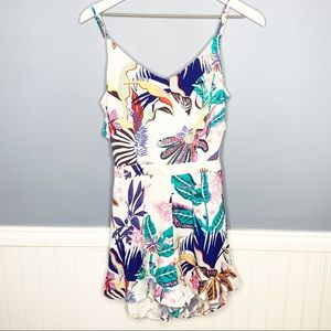 NWT Only Floral Open Back Romper